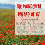 """The Wonderful Wizard of Oz"" Cursive Copywork"