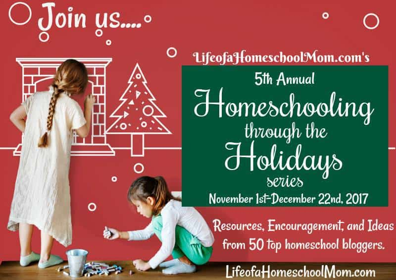 Homeschooling through the holidays is tough at best. From Nov 1 - Dec 22, 2017 you will be encouraged, given ideas and resources from 50 different Homeschooling Mom Bloggers. :: www.inallyoudo.net
