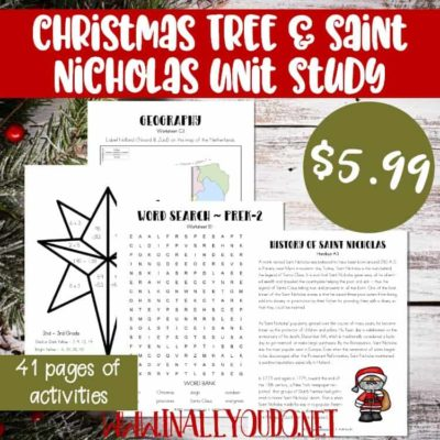 Christmas Tree & Saint Nicholas Unit Study – Updated & Expanded