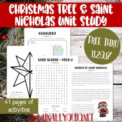 Christmas Tree & Saint Nicholas Unit Study – Updated & Expanded