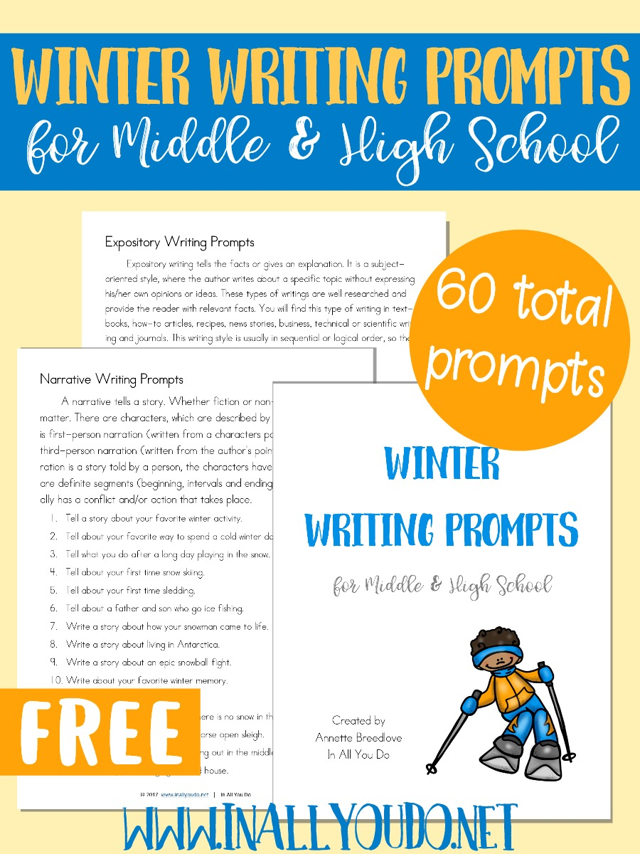 writing prompts for middle school creative writing Hundreds of creative writing prompts and poetry ideas get inspired and write better poems if you're looking for short story ideas instead, visit our story prompts section.
