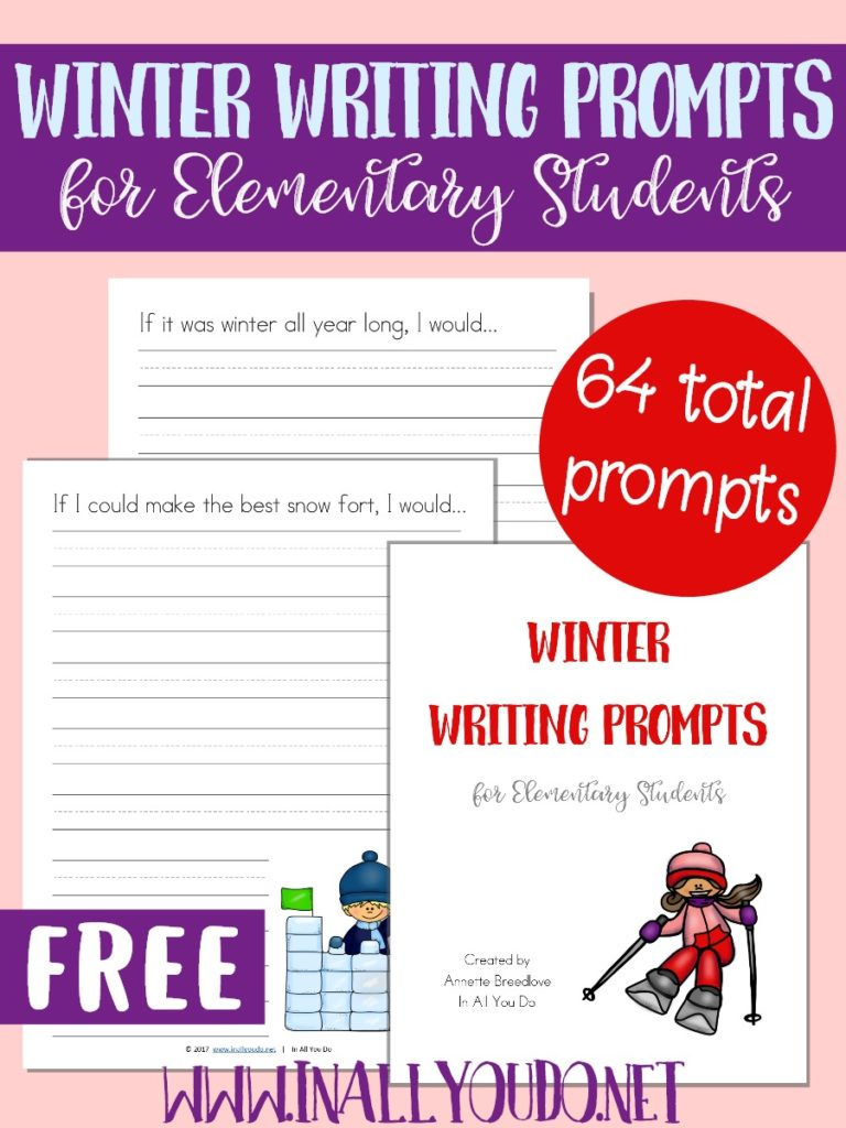 These Winter Themed Writing Activities are a great way to help kids with their creative writing skills. These fun Writing Prompts include 64 pages of Writing Prompts in the four different styles. :: www.inallyoudo.net