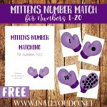 Mittens Number Matching 1-20