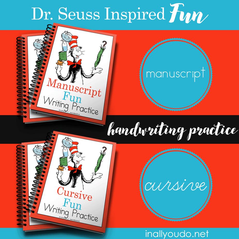 Dr Seuss Inspired Fun Handwriting Practice