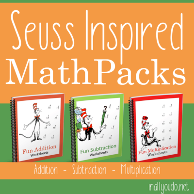 Seuss Inspired Math Pack – Addition, Subtraction & Multiplication