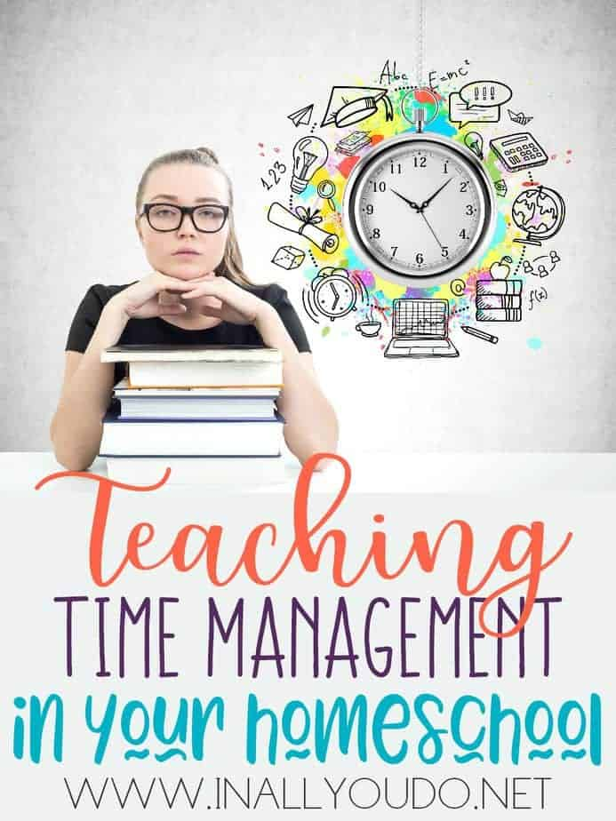Teaching time management skills in our homeschool will not only help our young students advance in grade level but it will also help them to make steps in developing a love of learning and help them become independent learners. :: www.inallyoudo.net