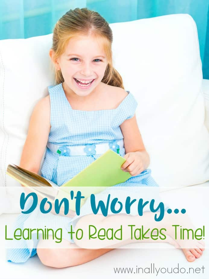 Is your child struggling with reading? Don't worry! As a mother of 4 homeschoolers (right now), I've learned reading takes time! But, it will happen! Here's what we use that made all the difference in our reading efforts! :: www.inallyoudo.net