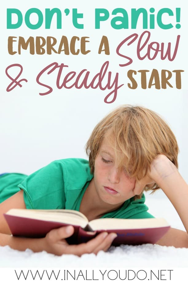 "As the saying goes, ""Slow & Steady wins the race."" And I have that to be true with learning to read as well. If your child is struggling to read, don't panic!! A slow start doesn't mean failure! :: www.inallyoudo.net"
