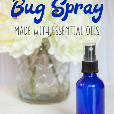Homemade Bug Spray Made with Essential Oils