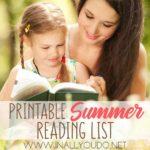 Printable Summer Reading List