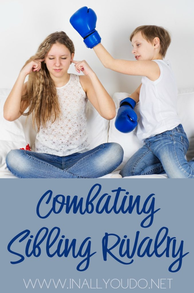 In the midst of these squabbles, parents experience a mix of emotions… to laugh or to cry? In either case, the only answer to peace, is combating sibling rivalry one battle at a time. :: www.inallyoudo.net