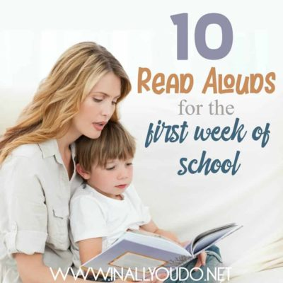10 Read Alouds for the First Week of School