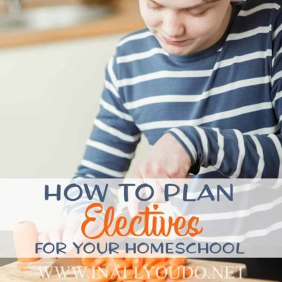 How to Plan Electives for Your Homeschool