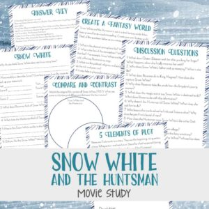 """Have your older kids seen the movie, """"Snow White & the Huntsman""""? If so, they are sure to enjoy this fun movie study! Use it for a fun movie day activity, as part of a larger movie study or even a literature study! Download yours FREE today! :: www.inallyoudo.net"""