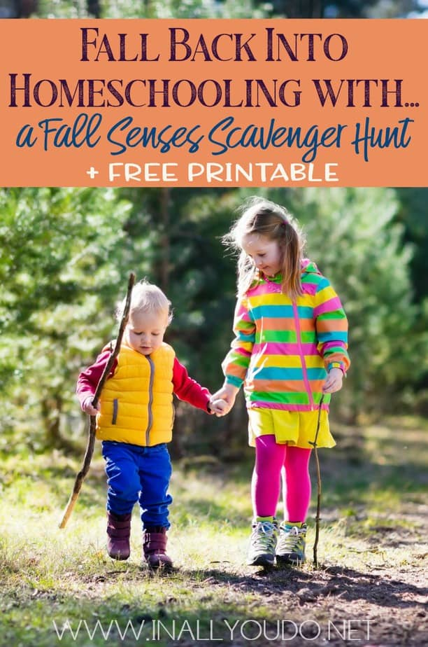 Scavenger Hunts are a great way to get kids excited about exploring the outdoors, even if they are hesitant. My fall senses scavenger hunt will encourage your children to explore the fall scents, tastes, and so much more! #fall #scavengerhunt #senses #fallscavengerhunt #iaydcommunity #iaydhsmoms #iaydhomeschoolers