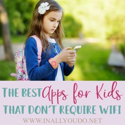 Keeping kids busy during trips in the car or on an airplane can be hard, but in this digital age, it isn't so bad when there are games to play! However, not everyone has an unlimited data plan, and playing games online can get pricey quick. #family #parents #parenting #apps