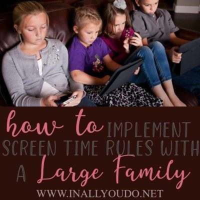 Do you have screen time rules for your home? what do you do when one kid has earned screen time and the others haven't? What do you do when one kid gets mad and the others are watching TV? Check out these simple ideas to help! #parenting #screentime #kids #parents