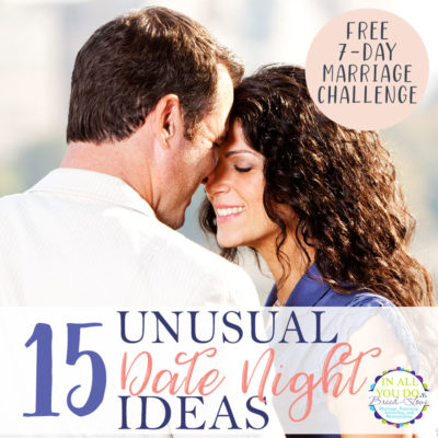 Date nights are a great way to stay connected with your spouse, but they don't have to be boring! Why not think outside the box and try some fun, yet unusual date ideas. Try these 15 ideas to spice up your traditional date night. #datenight #dateyourspouse #marriage #love